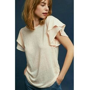 ERI + ALI Flutter Sleeve Top